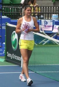 Dinara Safina ved en turnering i Tokio 2009
