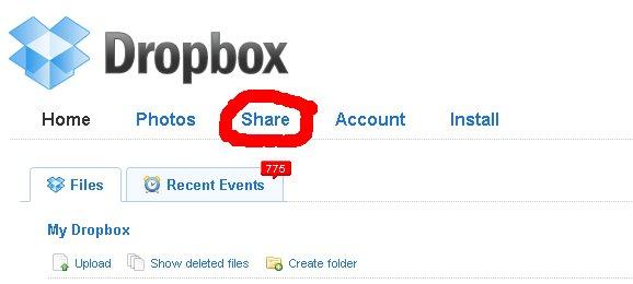 Det er nemt og hurtigt at dele en mappe med andre dropbox-brugere. Så snart der sker en ændring et sted, synkroniserer dropbox mappen på den anden computer.