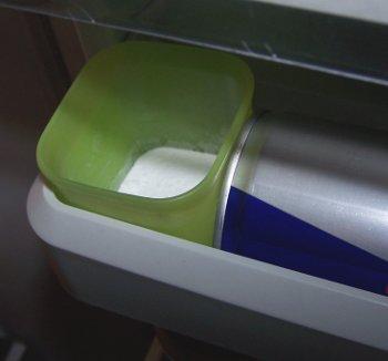 Bagepulver fjerner lugten fra køleskabet