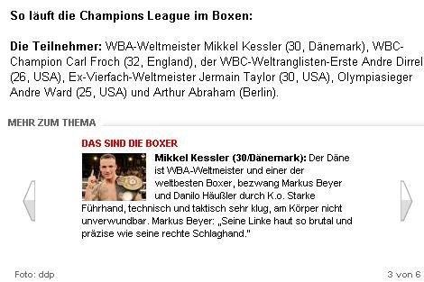 Mikkel Kessler skulle være bladt de seks deltagere, der skulle afgøre kampen om 50 mil. US-Dollar og dermed sætte sig på tronen i Supermellemvægt