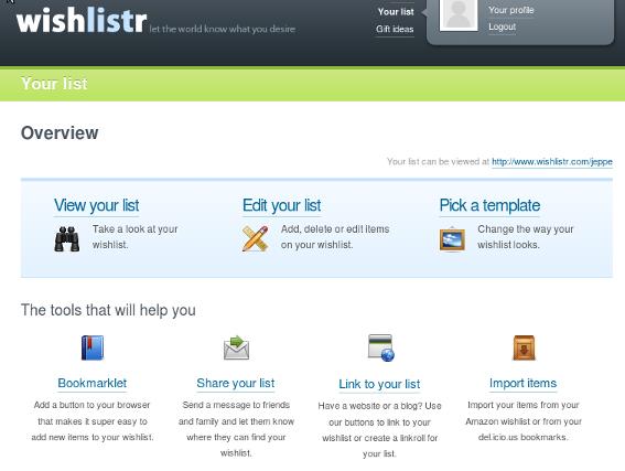 Wishlistr er en god mulighed for at lave en online ønskeliste til Jul, bryllup eller fødselsdag!