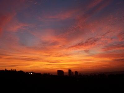 Solnedgang over Beirut, Libanon