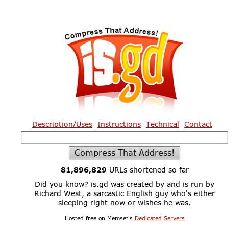 Brug en url shortener til at undgå at få din email spammet